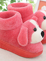 Lovely Cartoon Red Dog Wool Women's Slide Slipper