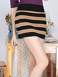 Women's Black Skirts , Sexy/Bodycon Above Knee