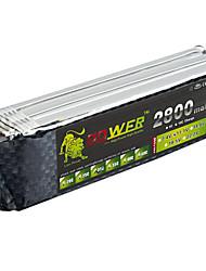 LION  Power 11.1V 2800MAH 3S 30C Li-Po Battery(T Plug)