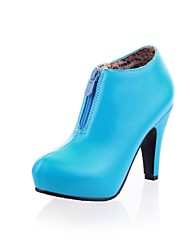 Women's Chunky Heel Platform with Zipper Ankle Boots(More Colors)