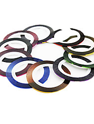 1PCS Striping Tape Line Nail Art Decoration Sticker(11-Color,Assorted Colors)