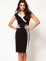 Платье модное без рукавов