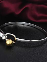 Alta Qualidade Doce Prata Prata Beads Bangle