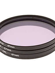 CPL + UV + FLD Filter Set for Camera with Filter Bag (67mm)