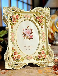 "6"" 7"" Modern European Style Pearl  Polyresin Picture Frame"