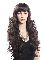 High Quality 20% Human Hair & 80% Heat-resistant Fiber Hair Capless Long Wavy Wig(Blonde)