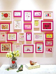Pink Color Photo Frame Collection Set of 22