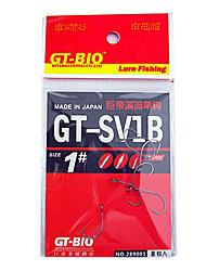 JD-SQDG 1#2# Fresh Water Fishing Single Hook(8 Pcs Pack)