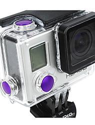 Botón de aluminio anodizado de color púrpura-Set