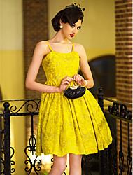 TS Vintage Print Straps Swing Dress