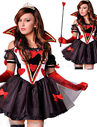 Alice no País das Maravilhas traje Card Poker mulheres vermelhas