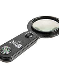 5in1 Многофункциональный 8X увеличительное стекло (лупа, термометр, компас, Обмен детектор, свет)