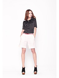 Simple Flanc blanc Casual Shorts 101122K017 de Zoely femmes