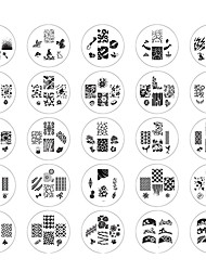 25PCS 2014 New Style Nail Art Stamping Stempel Vorlage Suits