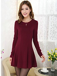 Nuovo Inverno dolce Peplum Dress