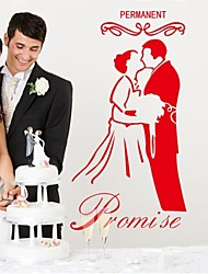 Romance Permanent Promise Decorative Wall Stickers