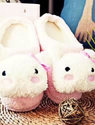 Slide Pink Panda bonito tímido Mulheres Lã Slipper