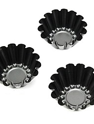 Mini-Lotus Flower Shape Muffin Cupcake Pans and Tart Pans, 3 Pieces per Set, Non-sticked Coated