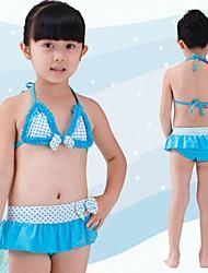Simples Swimwear listra da menina