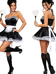 Costumes de Cosplay Uniformes Fête / Célébration Déguisement Halloween Blanc / Noir Robe / Collier / Coiffure Halloween / Carnaval