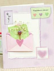 """""""Geluk Altijd"""" Card Fold Groet Lilac Side voor Moederdag"""