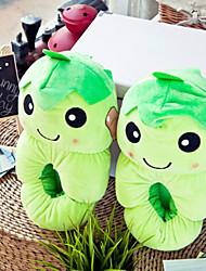 Creative Green Pea Wool Women's Slide Slipper