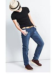 Azul Jeans de algodón lavado hombres