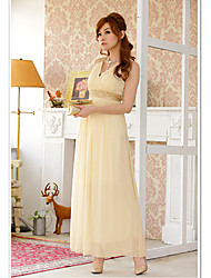 JK2 Women's High Waist Champagne Long Dress