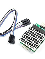 MAX7219 Red Dot Matrix Module with 5-Dupont Lines for (For Arduino) (Works with Official (For Arduino) Boards)