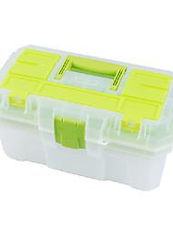 (41 * 23 * 20,5) plástico verde Fivela caixas de ferramentas