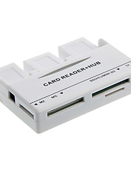 All-in-1 Memory Card Reader + USB Connection Kit HUB (bianco)