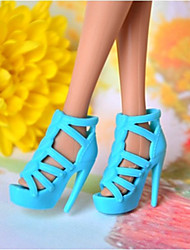 Barbie-Puppe klassische Art Blauer PVC Sandalette