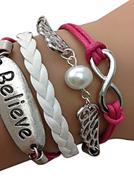 Miss ROSE®8-Word Angel Wings Fashion Wax Line Bracelet