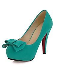 Suede Damen Stiletto Heels Plateau Pumps / High Heels mit Bowknot Schuhe (weitere Farben)