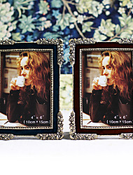 Retro Style Floral Metal Picture Frame