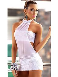 Europa Lace Sexy Underwear Sheer de Yumei Mulheres (preto, branco)