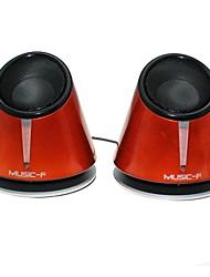 Music-FM-X6  High Quality Stereo USB 2.0Multimedia Speaker  (Orange)
