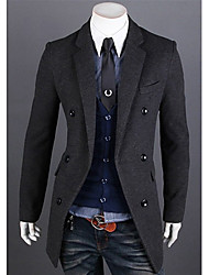 Men's Korean Version Handsome Slim Trench Coat
