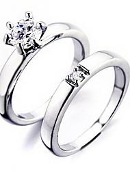 Bague argent couples de mariage (Taille aléatoire)