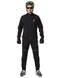 LAMBDA Men's Fall and Winter Style Cycling Suits with  Fleece