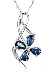 SiYue Charming Petal Pendant Copper Platinum Plated Necklace