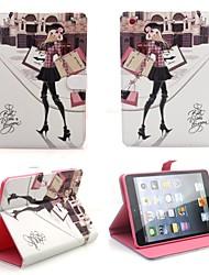 Élégant en cuir PU Folio romantique Filp cas de couverture de cas de stand Smart Cover pour iPad Mini
