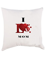 "Gifts Bridesmaid Gift ""I Love MOM"" Cotton Pillow Case for Mother's Day (Pillow not Included)"