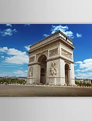 Натянутым холстом печати Искусство Пейзаж Триумфальная арка, Франция
