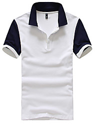 Men's Short Sleeve Polo , Cotton Casual