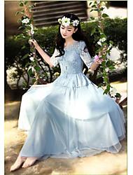 Princesse féerique robe en dentelle robe tutu Ouyika (Bleu)