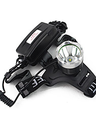 Lights Headlamps LED 900 Lumens 3 Mode Cree XM-L T6 18650 Camping/Hiking/Caving Plastic