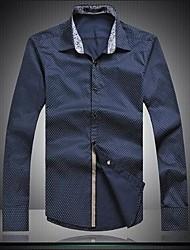 Men's Long Sleeve Shirt , Cotton Casual/Work/Sport Print