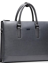 Mens Business Casual Style Vintage Genuine Leather Tote Bag Clutch