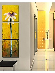 Dien Abstract Flowers Printed Three-Piece Joint Frameless Paintings 9113